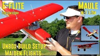 Horizon Hobby - Maule M-7 1.5m - Unbox, Build, Setup, & Maiden Flights