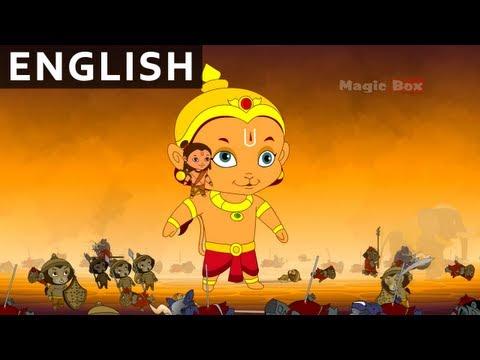 End Of Ravana - Hanuman In English - Animation / Cartoon Stories For Kids