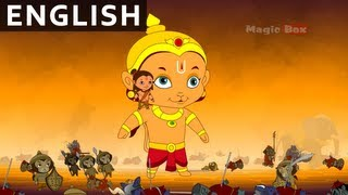 End Of Ravana - Hanuman In English - Animation / Cartoon Stories For Kids