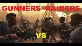 Gunners VS Raiders at Red Rocket Station - Fallout 4 NPC BATTLE