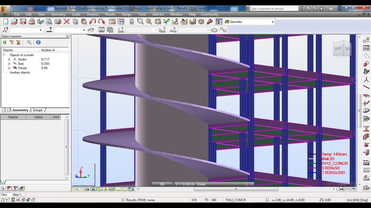 Autodesk Robot Structural Analysis Modeling Of Ramp
