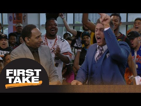 Mike 'The Miz' goes absolutely nuts debating Stephen A. Smith on Cavaliers   First Take   ESPN