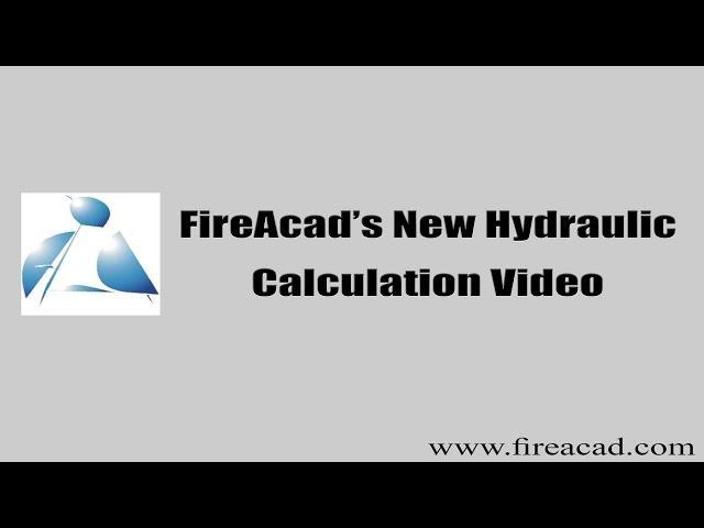 FireAcad New Hydraulic Calculation Video