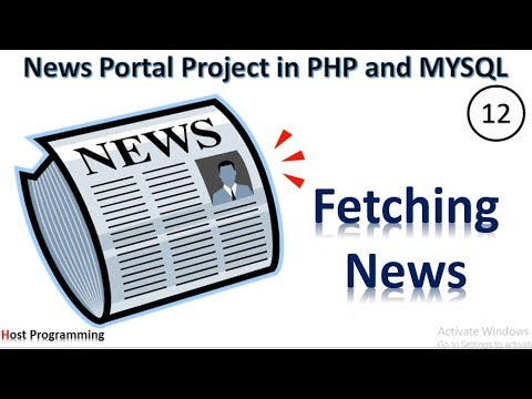 PHP And MySQL Project On Online News Portal : - Fetching News