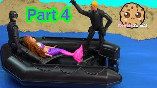 Barbie Mini Doll Trapped Mermaid Part 4 The Pearl Princess Video Series Beach Boat CookieSwirlc
