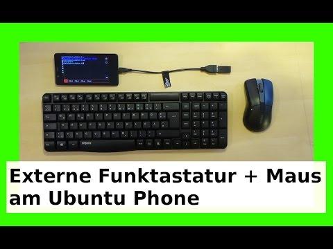 Externe Tastatur (keyboard) + Maus am Ubuntu Phone bq Aquaris E4.5 Ubuntu Edition [Deutsch/German]