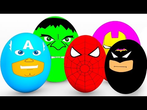 Thumbnail: Learn Colors SURPRISE EGGS for Babies - Spiderman Cars Educational Video - Bus Superheroes for Kids