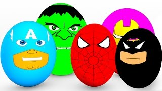 Repeat youtube video Learn Colors SURPRISE EGGS for Babies - Spiderman Cars Educational Video - Bus Superheroes for Kids