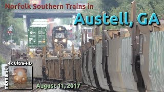 [5Q][4k] Norfolk Southern Trains in Austell, GA 08/11/2017 ©mbmars01