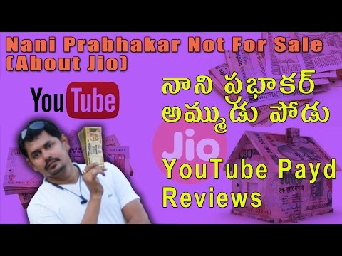 Nani Prabhakar Not For Sale || Paid Reviews || Tech-Logic || Telugu తెలుగులో ||