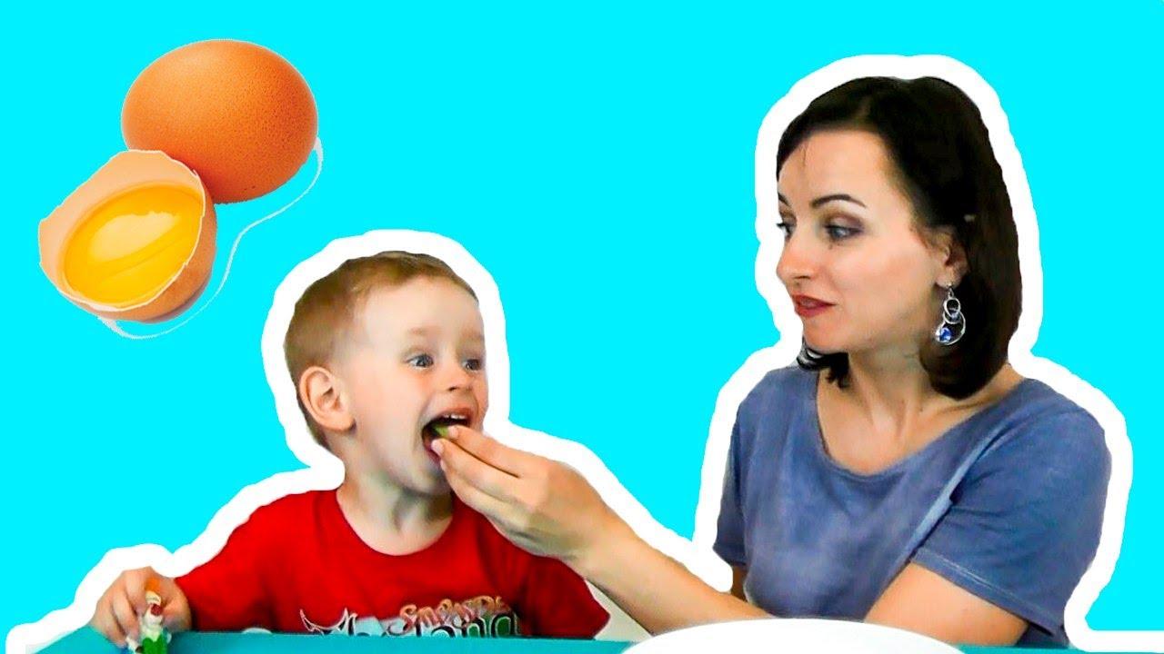 ОБЫЧНАЯ ЕДА и ВАРЁНАЯ против СЫРОЙ Челлендж сырые ЯЙЦА  Видео для детей Challenge Веселый челлендж