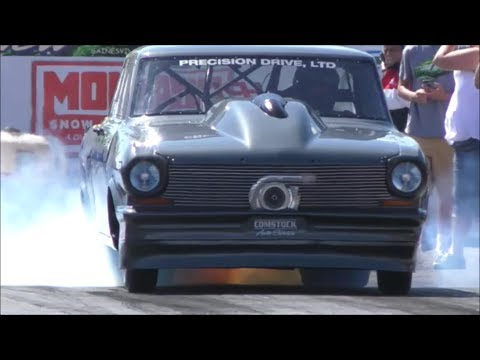 Daddy Dave vs Head Knocker Blown Chevy at Empire Dragway