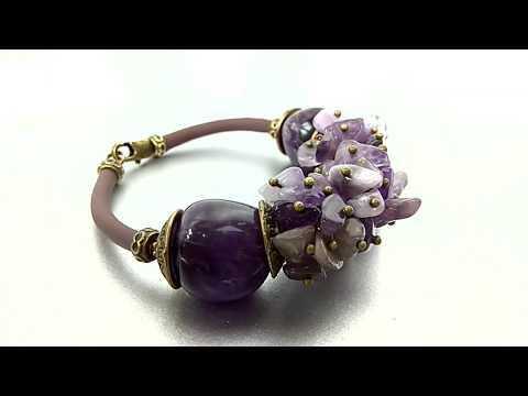#izkamnei Мастер класс  Как сделать браслет своими руками из натуральных камней