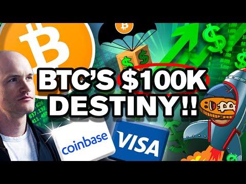 "$100k Per BITCOIN in 2021?? Visa & Coinbase ""Plan"" On It!!"