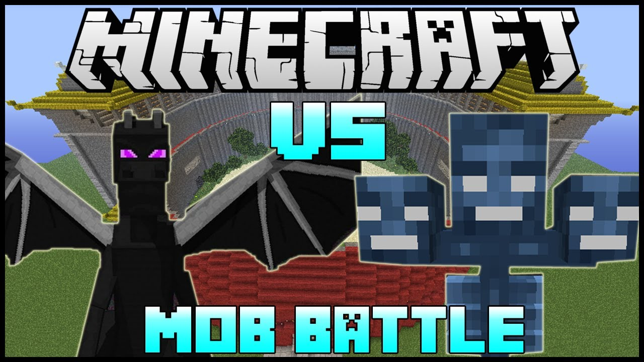 Quot Ender Dragon Vs Wither Quot Minecraft Mob Battle Arena