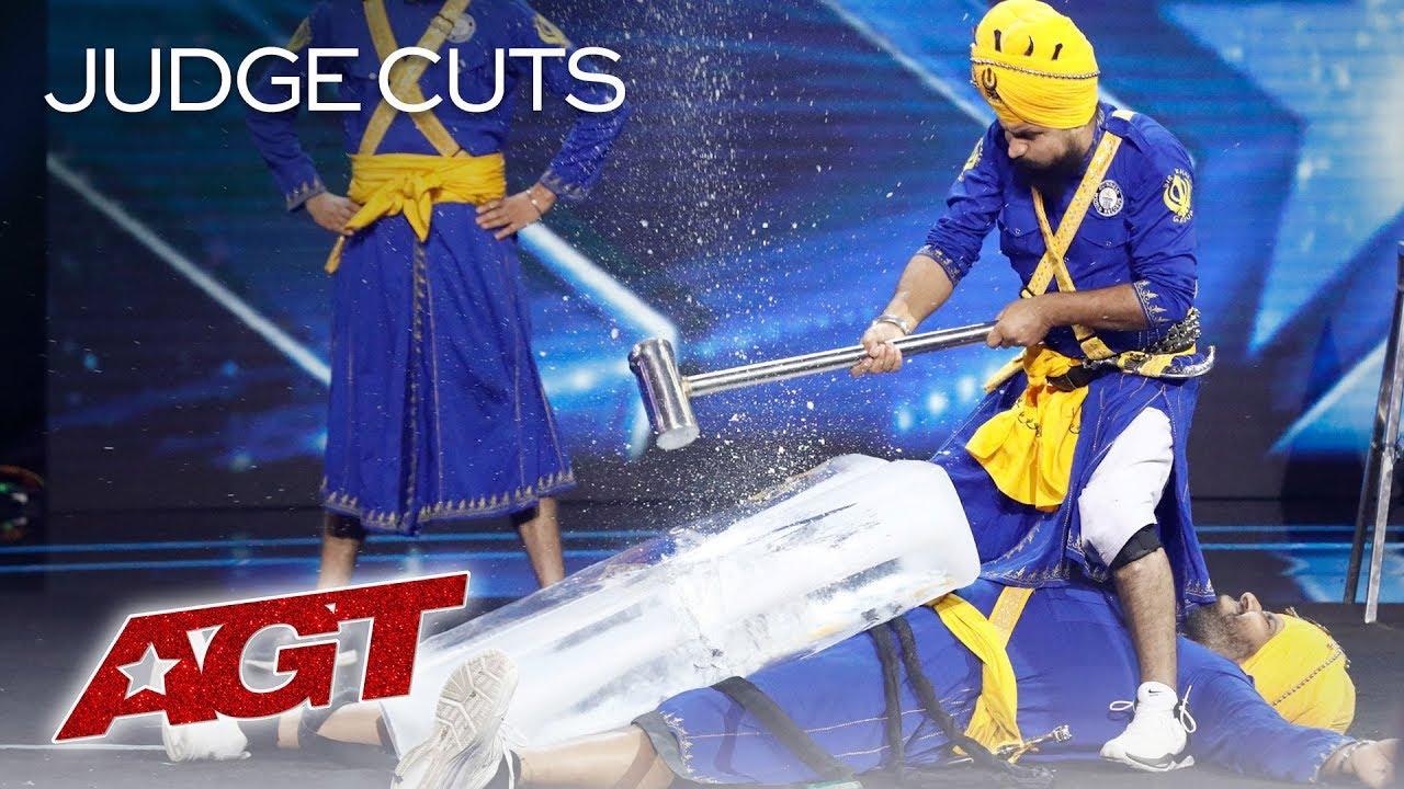 OMG! DANGER Act Bir Khalsa HITS Friend With A Sledgehammer - America's Got Talent 2019