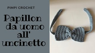 Papillon da uomo all'uncinetto|PimpiCrochet
