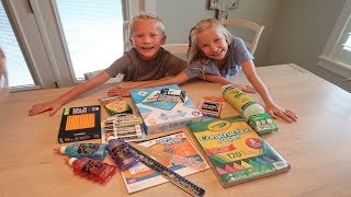 Bode sets off the alarm while school shopping!    School Supply Haul