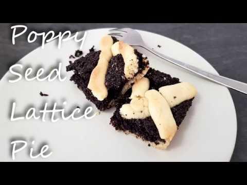 Poppy Seed Lattice Pie   Vegan