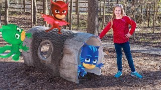 PJ Masks and Mickey Mouse Surprise Egg Hunts with the Assistant