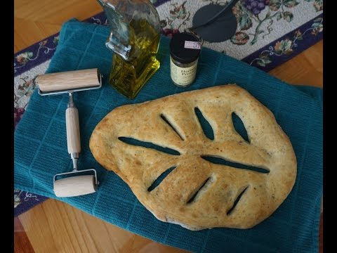Easy Homemade Fougasse (no knead... no mixer... it's as easy as making pizza)