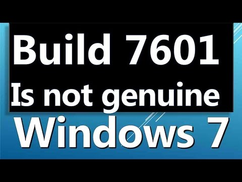 build 7601 this copy of windows is not genuine crack