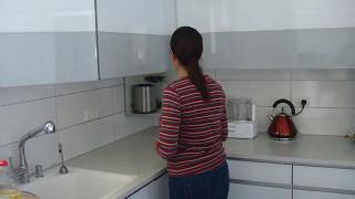 Upper kitchen corner cabinet