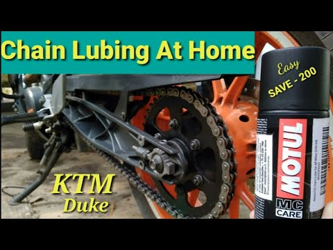 How To Clean And Lube Motorcycle Chain KTM DUKE 200