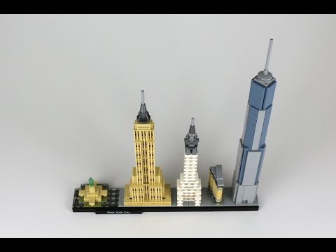 Lego architecture new york city review set 21028 youtube for Lego architecture new york