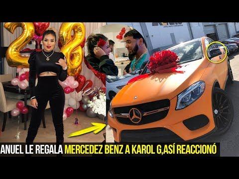 ANUEL LE REGALÓ ESTE LUJOSO MERCEDEZ BENZ A KAROL G, ASÍ FUE SU REACCIÓN