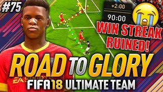 HUGE FAIL IN THE 90TH MINUTE!! FIFA 18 ROAD TO GLORY #75
