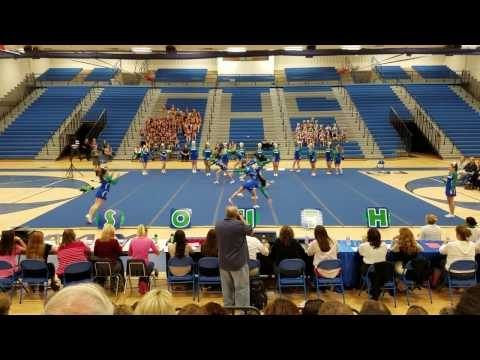 South Lakes High School at 6A North Cheer Competition 2016