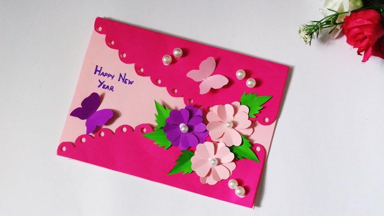 Beautiful Handmade New Year Card 2020 || Greeting Cards ...