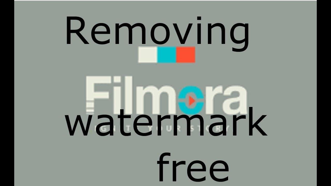 filmora watermark remover code 2018