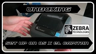 ZEBRA GK420D THERMAL LABEL PRINTER UNBOXING + SET UP