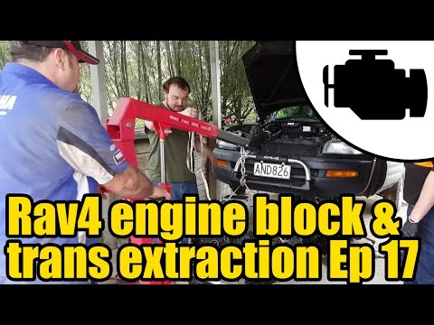 #1131 - Toyota Rav4 engine & transmission extraction Ep 17