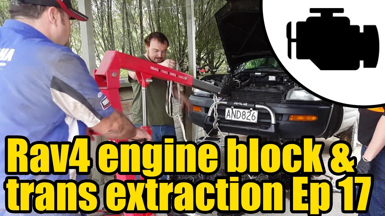 small resolution of toyota rav4 engine transmission extraction ep 17 1131
