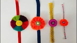 4 easy#rakhi making ideas at home / kids rakhi/ handmade rakhi/rakhi making competition/ rakhi