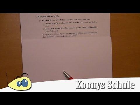 Kombinatorik, mit und ohne Reihenfolge | Erklärung und Lösung - AB ...