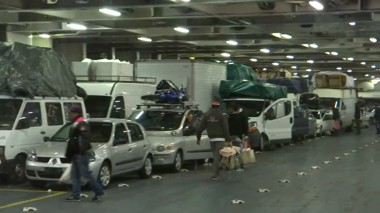 Ourtour drive a motorhome onto the gnv ferry to tunisia at for Grandi pavimenti del garage