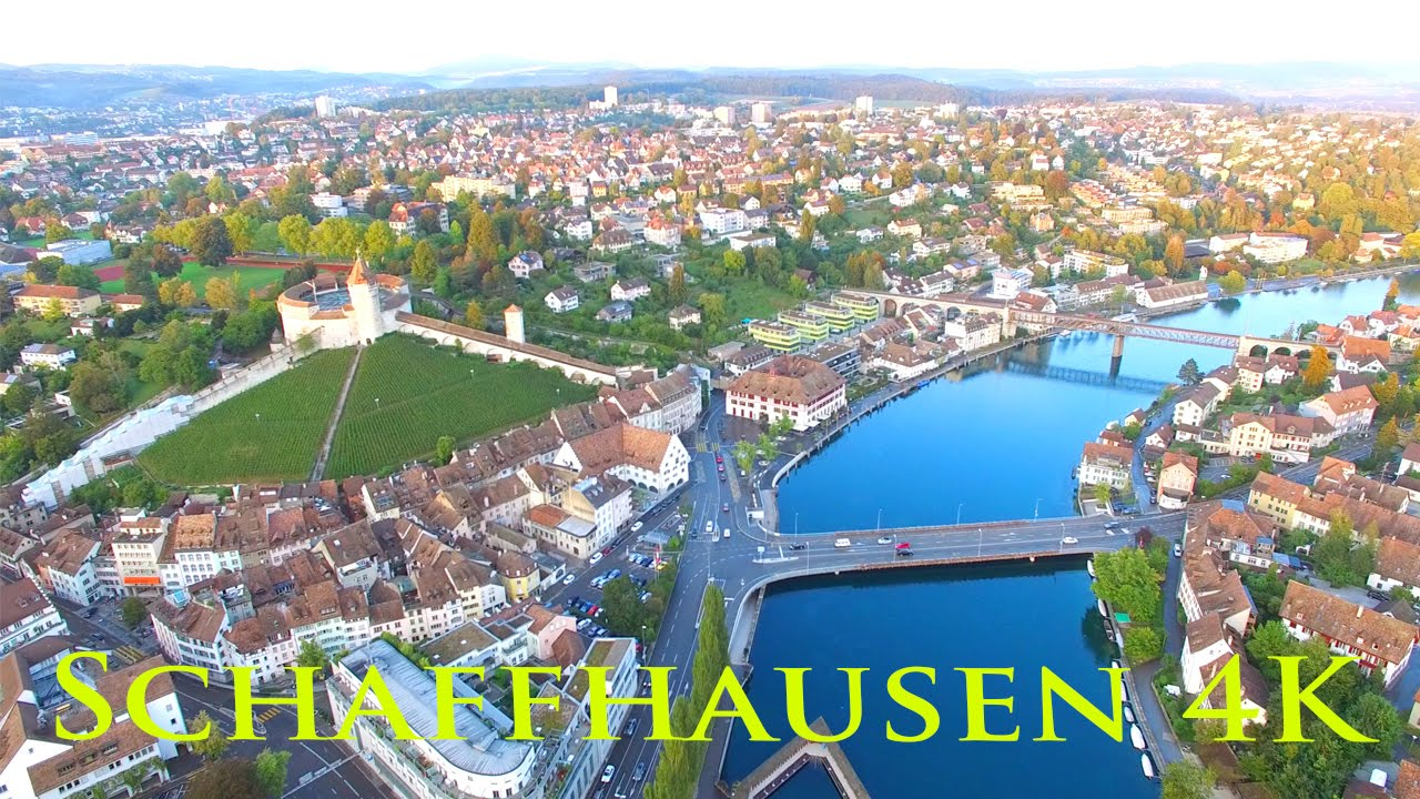 Phantom 4 Pro Drone >> I fly with my drone over Schaffhausen in Switzerland - YouTube