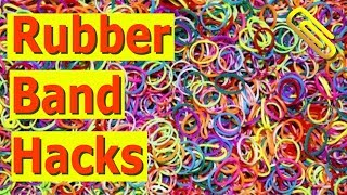 😱 26 CRAFTING LIFE HACKS WITH RUBBER BANDS 😱 |Clip Crafts Life Hacks|