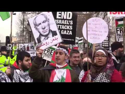 UK: Netanyahu state visit prompts protests outside Downing Street