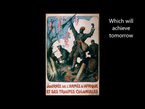 Le Chant des Africains - English translation