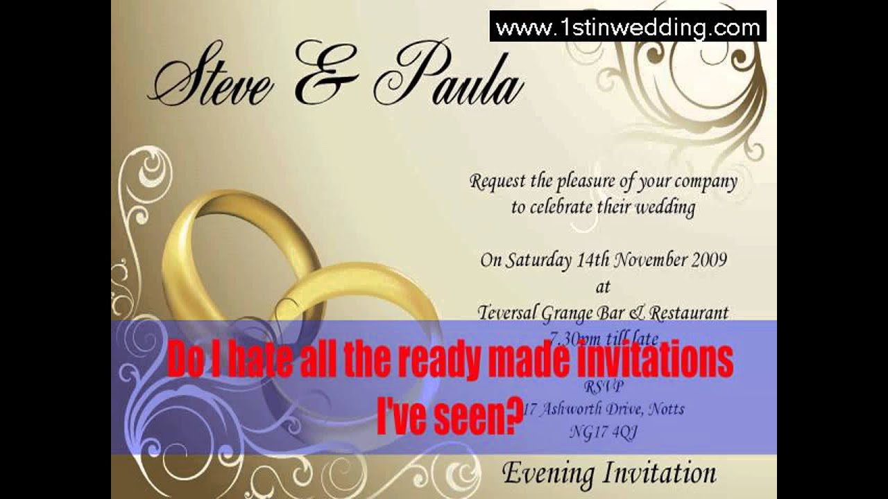 Guide to Make Your Own Wedding Invitations Michaels - YouTube