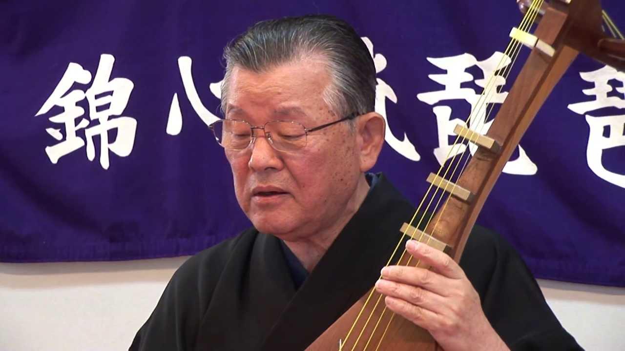 錦心流琵琶 全國一水會 會長 松原孔水 【高松城】 - YouTube
