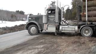 Peterbilt Truck Pulling Out