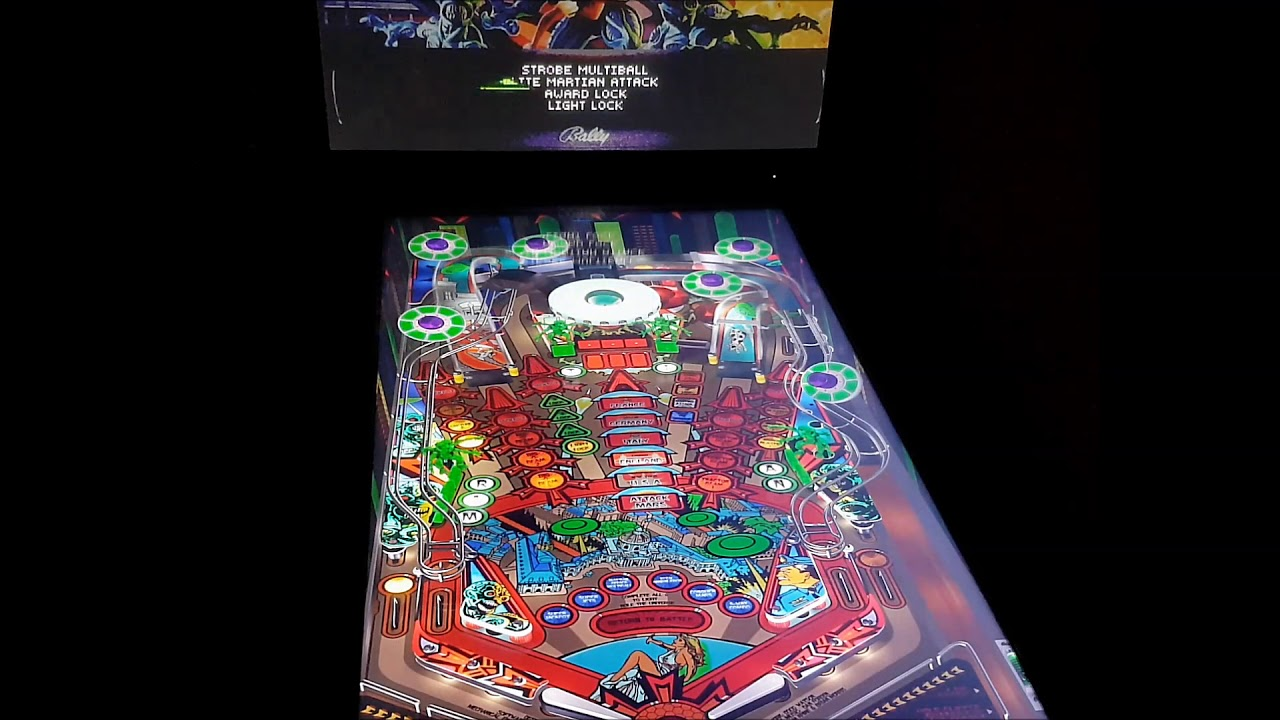 Attack from Mars Visual Pinball X 4K with color DMD (virtual)