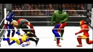Spider-Man vs Hulk vs Wolverine vs Iron Man vs Thor vs Captain America - WWE 12