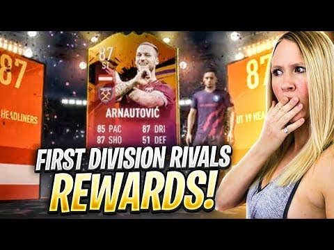 WALKOUT IN MY FIRST DIVISION RIVALS REWARDS!! FIFA 19 MOM'S 87 HEADLINER ARNAUTOVIC REVIEW!!